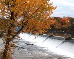 Dam on Fox River, Appleton, Wisconsin - Saw this August 2014