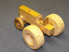 Wooden Toy Tractor by CraftyWoodenCreation on Etsy