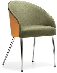 Wood, fabric, and metal reception chair from the Global Total Office Marche seating collection. #ContemporaryChair #ModernChair
