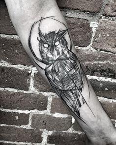 Sketchy owl