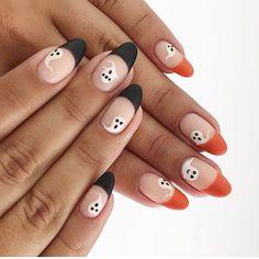 Holloween Nails, Halloween Acrylic Nails, Cute Halloween Nails, Fall Acrylic Nails, Cute Fall Nails, Halloween Nail Designs, Nail Art For Fall, Easy Halloween Nails, Fall Gel Nails