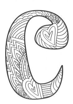 The super original mandaletras learn the alphabet - Educational Images Quote Coloring Pages, Easy Coloring Pages, Coloring Pages For Girls, Mandala Coloring Pages, Coloring Books, Doodle Lettering, Creative Lettering, Alphabet Art, Alphabet And Numbers
