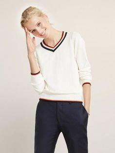 ED V-Neck Tennis Sweater