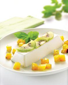 Recept voor Panna cotta van kokosmelk met mango en kiwi    Solo Open Kitchen