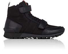 24a0cce8aafacf PRADA Double-Strap Nylon & Leather Sneakers. #prada #shoes #all