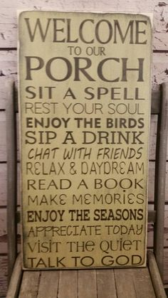 Vintage Style Porch Rules sign CUSTOM Front Porch rules Back Porch rules shabby chic, Vintage Style Typography Word Art great gift for mom - Shabby Chic Farmhouse, Shabby Chic Homes, Shabby Chic Decor, Shabby Chic Patio, Farmhouse Style, Porch Rules Sign, Porch Signs, Patio Signs, Retro Stil