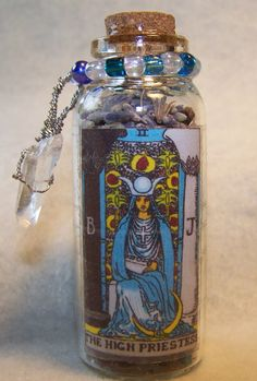 Tarot Divination Charm Bottle by KazanCauldron on Etsy