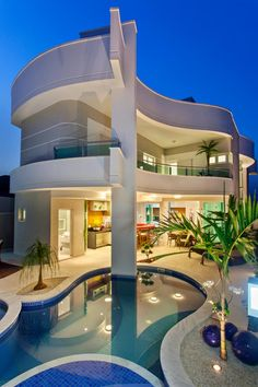 Belle homes & Estates Inserzioni - case di lusso Luxury Homes Dream Houses, Luxury Homes Interior, Luxury Apartments, Interior Design, Dream Home Design, Modern House Design, Contemporary Design, Modern Mansion, Dream House Exterior