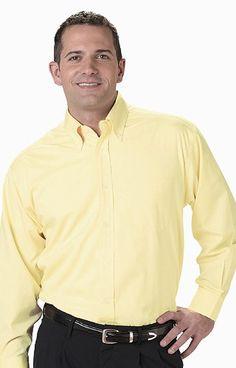 Edwards Garment Company | Men's Pinpoint Oxford Shirt LS | Dress Shirts | Clemens Uniform | 1975