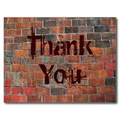 Thank You brick wall Postcards so please read the important details before your purchasing anyway here is the best buyThis Deals Thank You brick wall Postcards lowest price Fast Shipping and save your money Now! Thank You Postcards, Create Your Own, Create Yourself, Appreciation Cards, Postcard Design, Brick Wall, Postcard Size, Collage Art