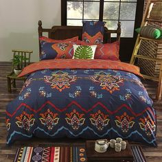 Vaulia Lightweight Bohemian Duvet Covers, Bohemia Exotic Patterns,Full/Queen/King Size