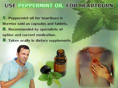 Peppermint-oil-for-Heartburn. Magnesium Oil, Peppermint Oil, Heartburn, Flu, Natural Oils, Remedies, Medical, Learning, Health