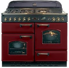 Rangemaster Classic 110 Natural Gas Range Cooker - Cranberry