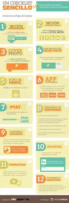 12 pasos para evaluar tu página de #Facebook - #infografia #socialmedia