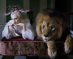Gallery Update: The Lion King - I recently worked on this extraordinary and adventurous shoot with Tim Walker for the latest issue of Love Magazine. When Tim first told me there would be a full grown lion on the shoot I was a little taken back but excited as I knew with a visionary like Tim, an icon...