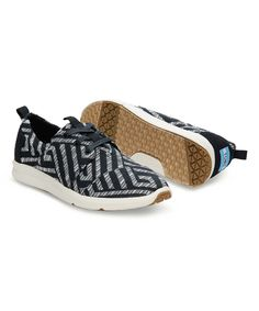 Look at this Black & White Geometric Del Rey Sneaker on #zulily today!