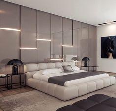 Bedroom lighting boiserie