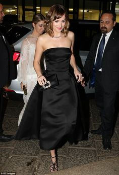 Watch your step: The talented actress made a grand entrance into the venue...