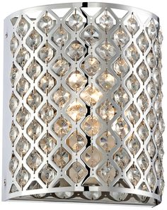 "Possini Glitz Crystal Chrome 8 1/2"" High Pocket Wall Sconce | LampsPlus.com"