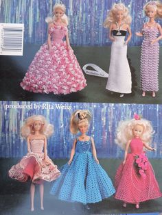 PUBLICATION TITLE: Fashion Doll Beauty Contest in Thread Crochet. Fashion Doll Beauty Contest in Thread Crochet booklet patterns include Craft patterns designed to fit Barbie and fashion dolls. Crochet Barbie Patterns, Barbie Clothes Patterns, Crochet Barbie Clothes, Doll Clothes Barbie, Crochet Doll Pattern, Clothing Patterns, Doll Patterns, Barbie Doll, Crochet Bunny