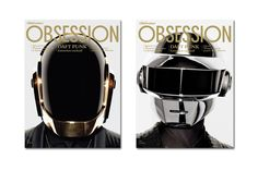 Daft Punk Cover the May 2013 Issue of Obsession Magazine: French lifestyle monthly Obsession Magazine has a full-scale interview with Daft Punk, with the Music X, Music Stuff, Daft Punk Faces, Daft Punk Albums, Thomas Bangalter, Music Colleges, Trends Magazine, Album Releases, Electronic Music