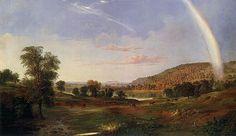 Robert Scott Duncanson, Landscape with Rainbow, c. 1859, Hudson River School, Smithsonian American Art Museum, Washington, DC.