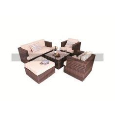 The Nova Large L Shaped Rattan Corner Sofa Set Cover is designed to protect your garden furniture from the direct exposure of potentially damaging elements such as snow, frost, dirt, rain, sun and wind. Although rattan furniture is incredibly weat Garden Sofa Set, Outdoor Furniture Sets, Outdoor Decor, Rattan, Maze, Georgia, Home Decor, Wicker, Decoration Home