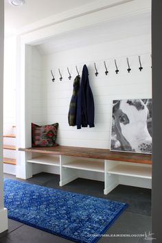 A couple of DIYers, updating their home, one room at a time. Humble Abode, Mudroom, Entryway Bench, Denver, Laundry, Couple, Furniture, Design, Home Decor