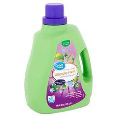 Great Value Ultimate Fresh Blooming Lavender Laundry Detergent, 64 loads, 100 fl oz Detergent Bottles, Liquid Laundry Detergent, House Cleaning Tips, Cleaning Hacks, Cleaning Products, Cleaning Supplies, Odor Eliminator, Lavender Scent, Fabric Softener