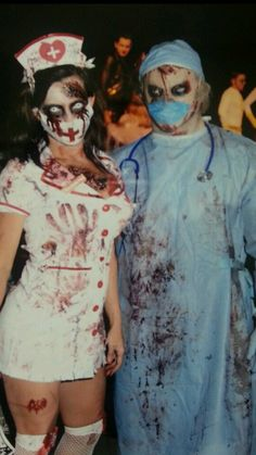 Zombie nurse and surgeon