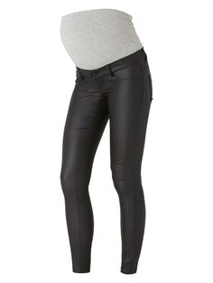 Cool coated jeans from Mamalicious. Wear with white top and black jacket to create a classic look.