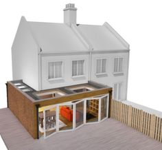 There are different types of ground floor extensions some of which are a side extension, a rear extension or a wraparound and each type has their own distinct features. Kitchen Extension Floor Plan, 1930s House Extension, Extension Veranda, House Extension Plans, House Extension Design, Roof Extension, Extension Ideas, Open Plan Kitchen, Orangery Extension Kitchen