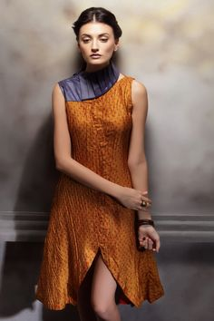 recycled sari dress Indian Fabric, Sari Fabric, Sari Silk, Sari Dress, Dress Up, Sari Design, Stylish Sarees, Altering Clothes, Dress Patterns