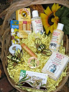 "The ""Buzz"" themed Gift Basket Fletcher Prince donated to the WWPR PR Woman of the Year raffle (2008)"