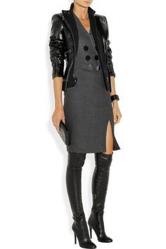 Altuzarra|Broome flannel sheath dress|NET-A-PORTER.COM