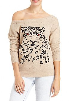 Rhinestone+Cheetah+Sweater