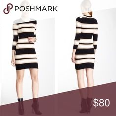 🎃24 HOUR SALE!! French Connection Striped Dress New with tags. Perfect for fall weather. Nice for work 😊 this is the lowest I can do. It's new with tags!! French Connection Dresses