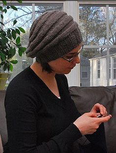Free knitting pattern for Guinan Hat inspired by Star Trek