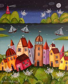 Naive Art, Various Artists, Illustration, Painting, Board, Painting Art, Paintings, Illustrations, Painted Canvas