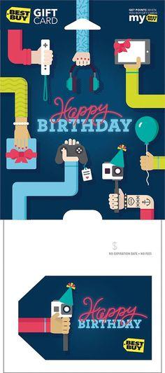 Best Buy GC - $100 Happy Birthday Selfie Stick Gift Card