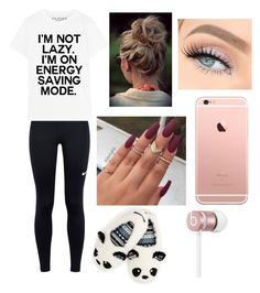Energy Saving Mode by teagan825 on Polyvore featuring polyvore fashion style NIKE Beats by Dr. Dre clothing