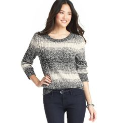 Marled Ombre Cable Sweater | Loft