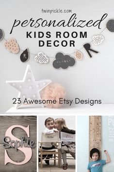 Etsy is the best place for hand crafted, unique and personalized kids room decor. I searched for the best of the best to create the ultimate list of personalized Etsy designs. The perfect gift idea for christening, new baby and birthday! . #personalized #kidsdecor #decor #interiors #etsy