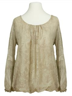 Damen Bluse Paisley Muster, beige von Amanti bei www.meinkleidchen.de