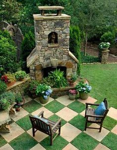 This is nicer as a planter but it should remain a fireplace.
