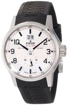 Edox Men`s 64008 3 AIN WRC Big Date White Dial Watch $420.00