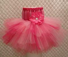 Pink Sparkle Baby Tutu Dress for Portraits Photo by TheFabuTutu
