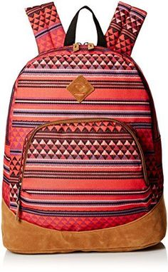 Roxy Juniors Fairness Poly Backpack Native Triangle One Size >>> Click on the image for additional details.