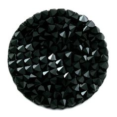 Palet Crystal rock 24 mm en cristal Swarovski noir brillant élégant classe scintillant