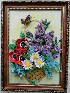 Картина панно рисунок День рождения Квиллинг Себе Любимой   Бумага фото 4